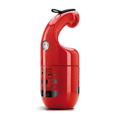 Brandsläckare Firephant 1 kg, Röd – brandklass: ABC