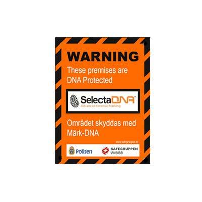 SelectaDNA Varningsskylt för område A5
