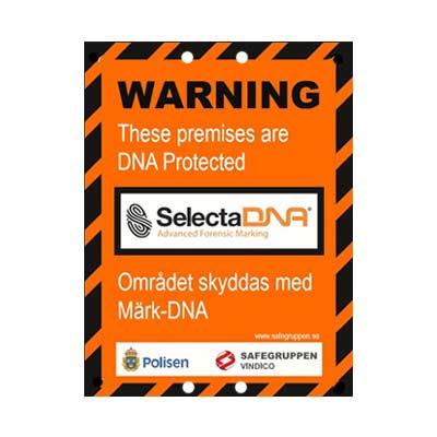 SelectaDNA Varningsskylt för område A3
