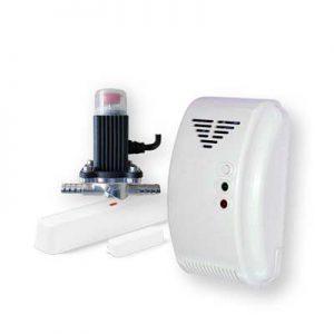 Gaslarmkit för gasol – trådlöst larm, gasoldetektor och gasolavstängning