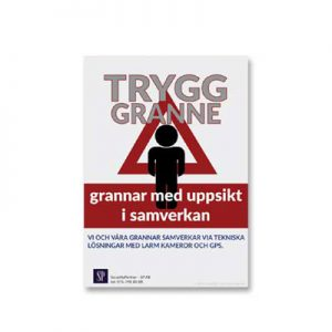 Trygg Granne – Skylt A4